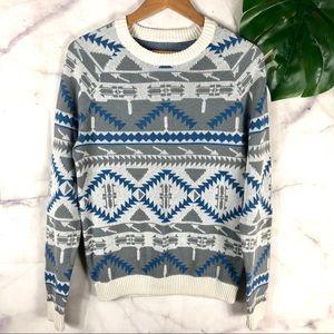 Mossimo Crewneck Aztec Print Sweater